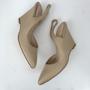 Pour la Victoire Maira Pointed-Toe Slingback Wedge